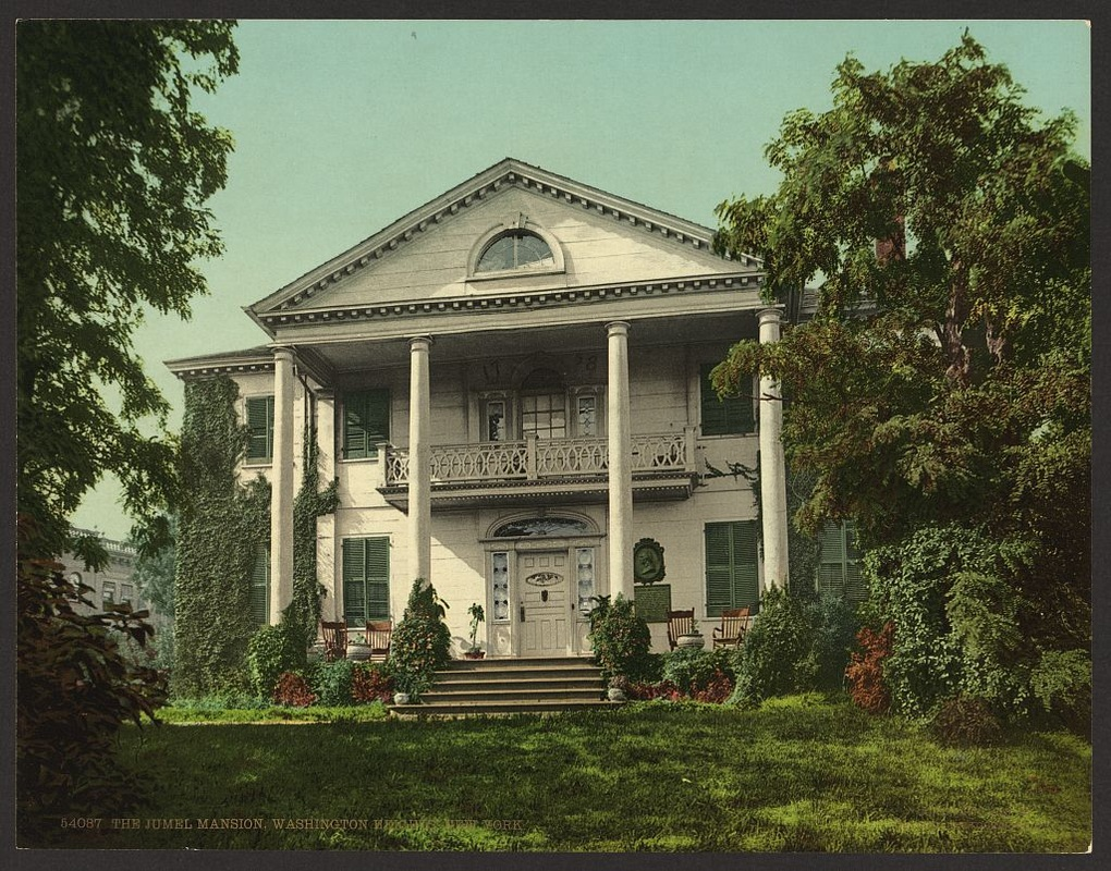 Postcard showing the Morris-Jumel Mansion in 1903.