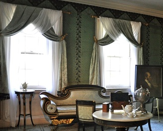 Front parlor at the Morris-Jumel Mansion.