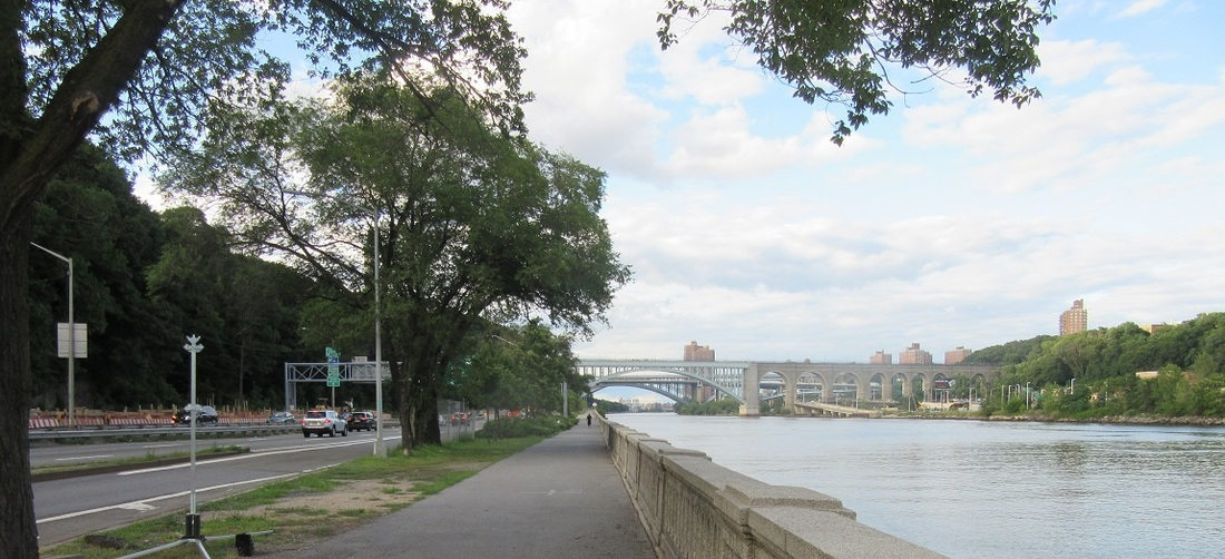 View of High Bridge and the Harlem River, 2016.