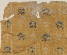 Sprig wallpaper fragments (detail), 1770-90, from a house in Massachusetts.