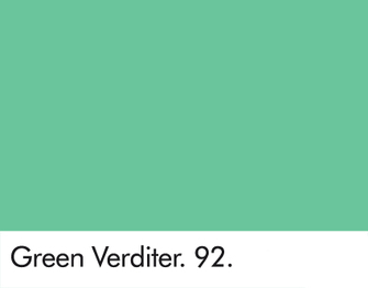 A sample of green verditer paint, a popular color in wallpapers in the second half of the eighteenth century.