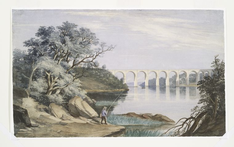 View of High Bridge and the Harlem River, 1844.