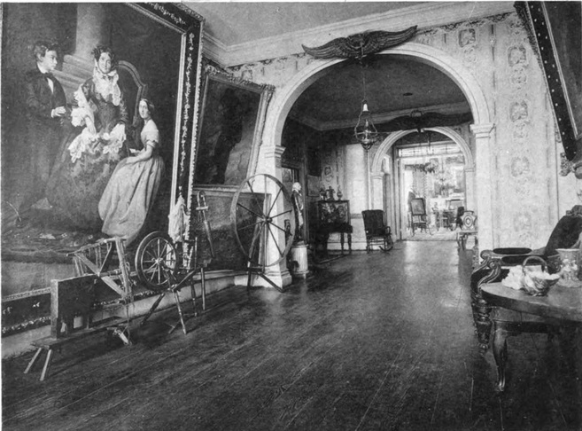 Photograph of the hallway of the Morris-Jumel Mansion in 1887.