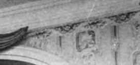Detail of the wallpaper at the Morris-Jumel Mansion in an 1887 photograph.
